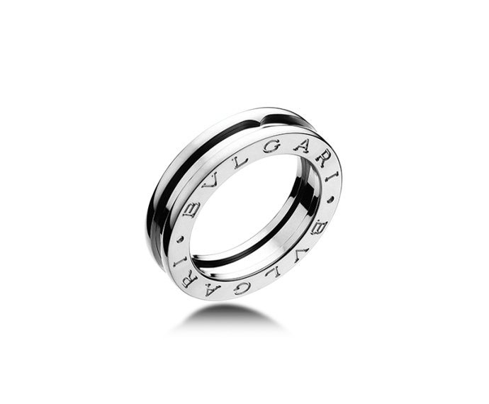 BULGARI - 1 band ring in white gold 18 K