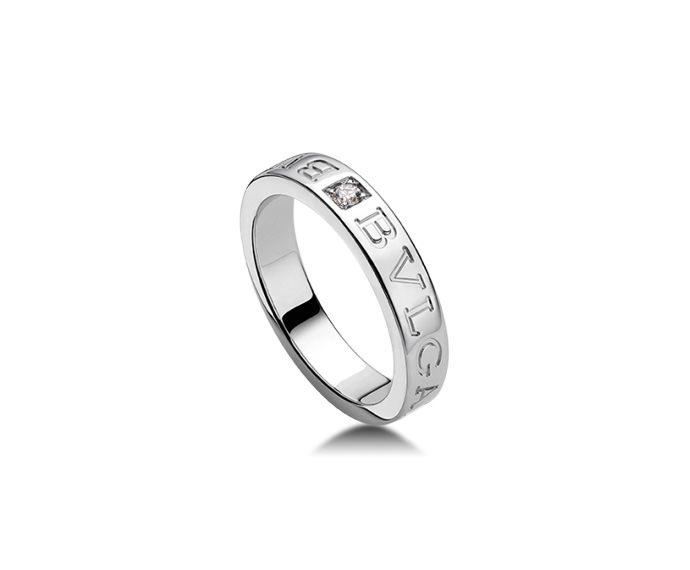 Bulgari - Ring in white gold 18 K and diamond