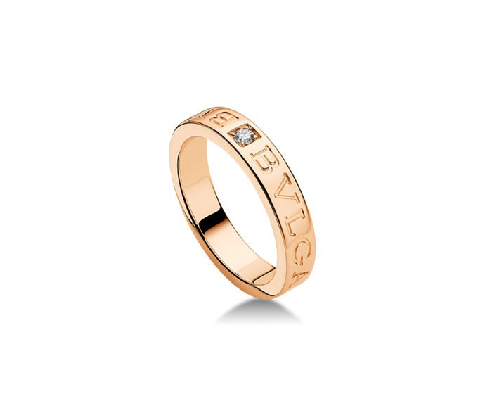 Bulgari - Ring in pink gold 18 K and diamond