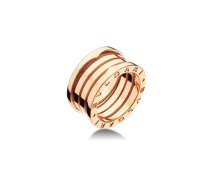 Bulgari - 4 band ring in pink gold 18 K