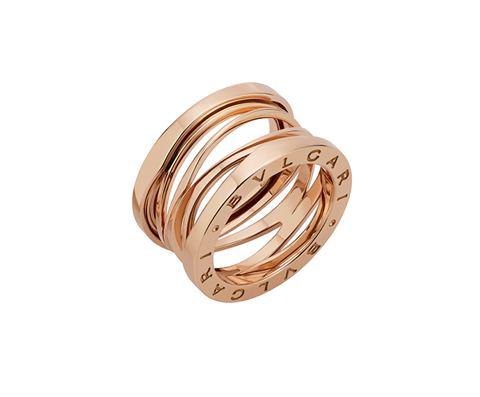 BULGARI - 3 band ring in pink gold