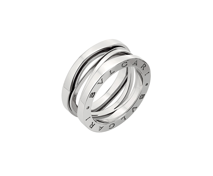 BULGARI - 3 band ring in white gold