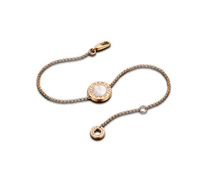BULGARI - Bracelet in pink gold 18 K with mother-of-pearl