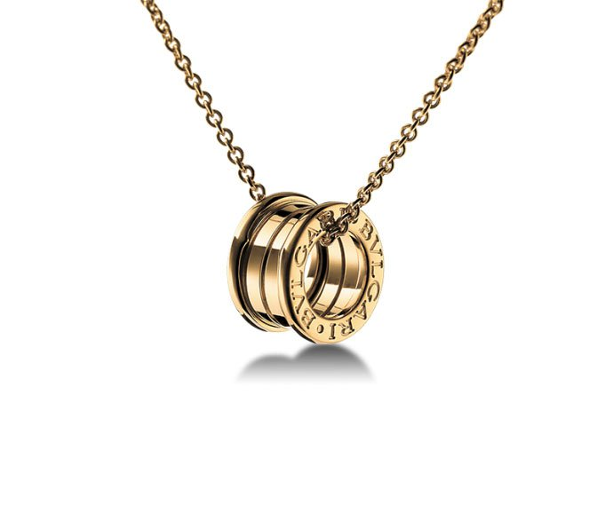 Bulgari - Pendant in yellow gold 18 K chain sold separately