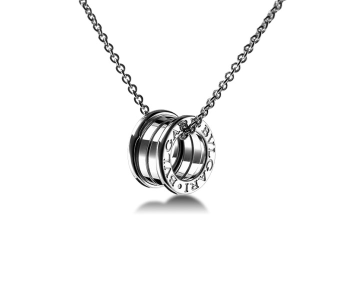 Bulgari - Pendant in white gold 18 K chain sold separately