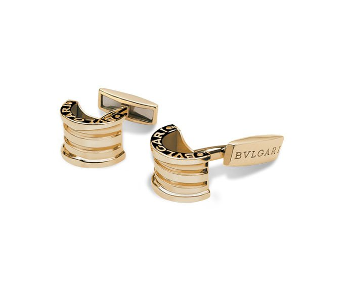Bulgari - Cufflinks in yellow gold