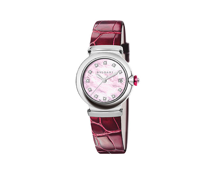 Bulgari - Lucea automatic pink mother-of-pearl dial