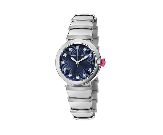 BULGARI - Lucea quartz blue dial
