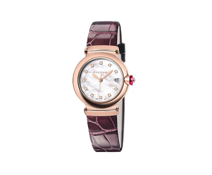 Bulgari - Lucea automatic white mother-of-pearl dial