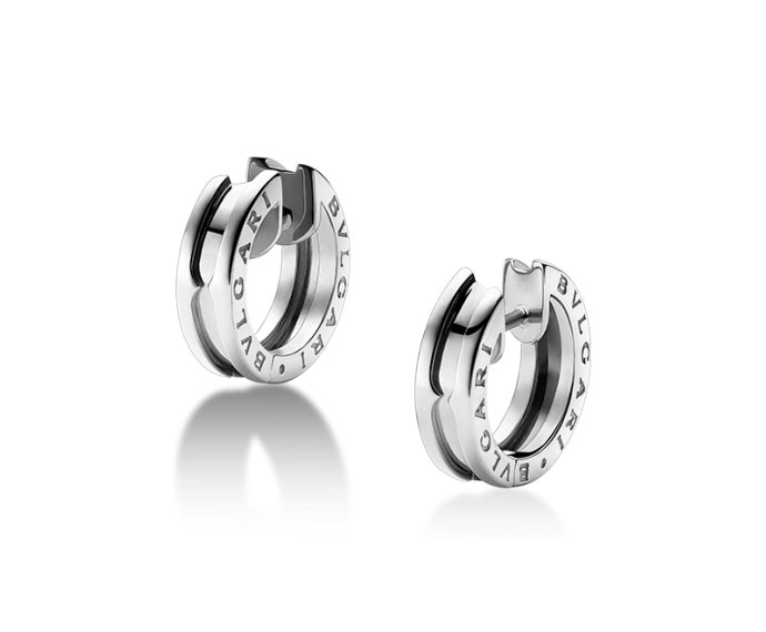 Bulgari - Hoop earrings in white gold 18 K