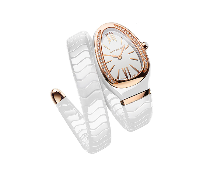 Bulgari - Serpenti Tubogas quartz white dial