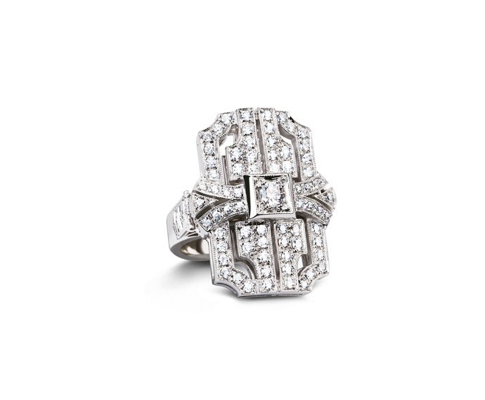 Calderoni - Ring in white gold and diamonds