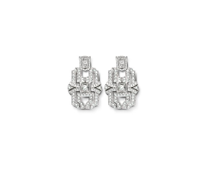 Calderoni - Earrings in white gold and diamonds