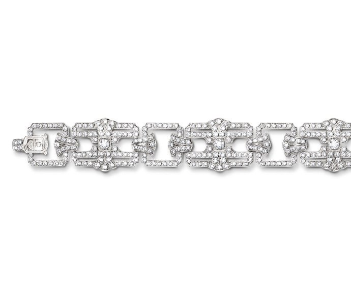 CALDERONI - Bracelet in white gold and diamonds