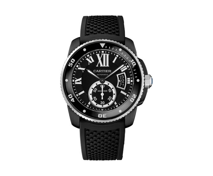 - Calibre de Cartier Carbon Diver, 42mm, Steel