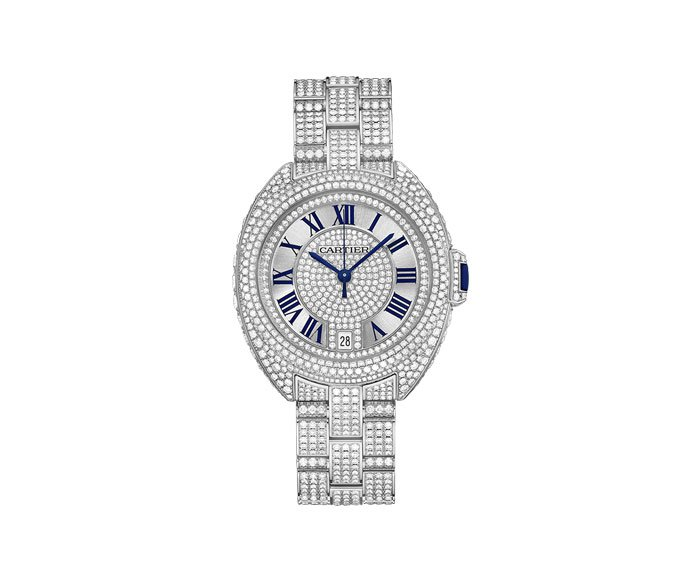 Cartier - Clé de Cartier 35 mm Automatic, White gold, Diamonds
