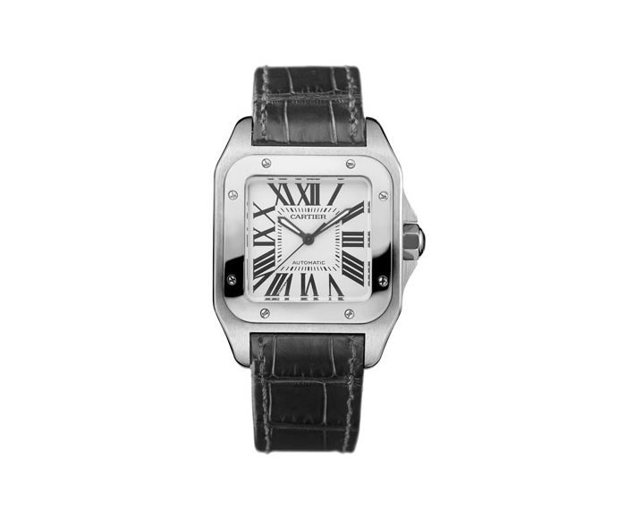 Cartier - Santos 100 Medium Model, Steel, Leather