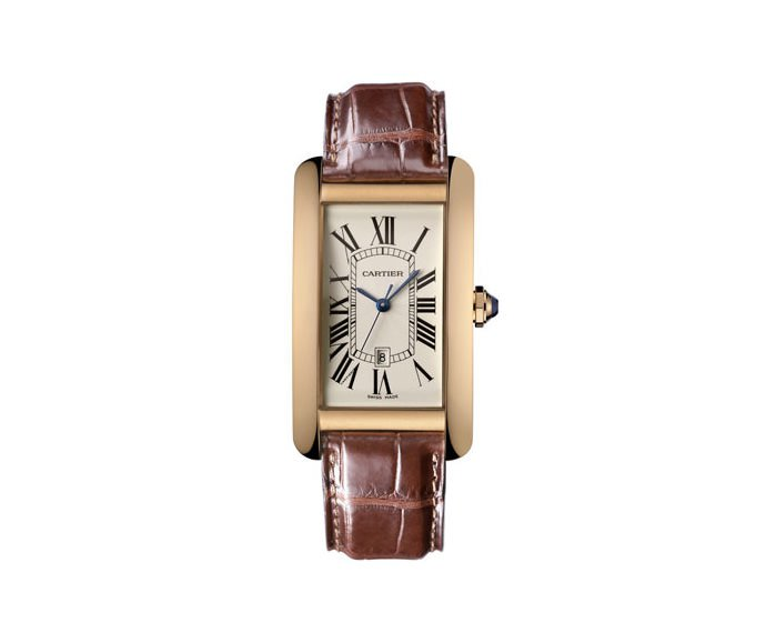 CARTIER - Tank Américaine Big Model, Pink gold