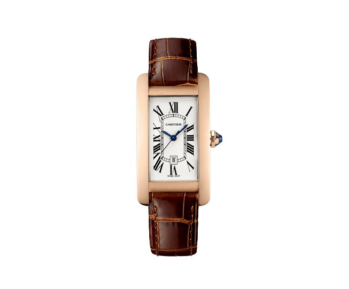 CARTIER - Tank Américaine Medium Model, Pink gold