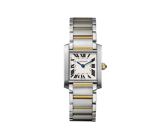 Cartier - Tank Française Medium Model, Yellow gold, Steel