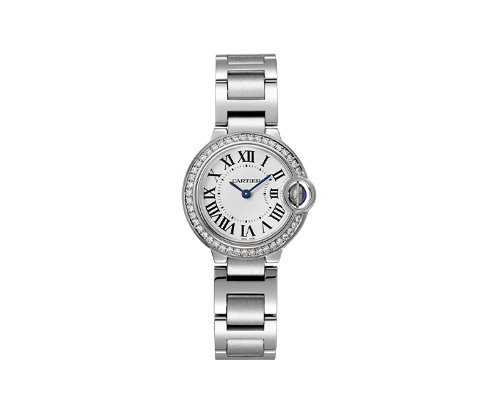 CARTIER - Ballon Bleu de Cartier 28mm Steel and Diamonds