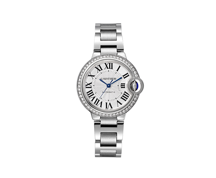 CARTIER - Ballon Bleu de Cartier 33mm Steel and Diamonds