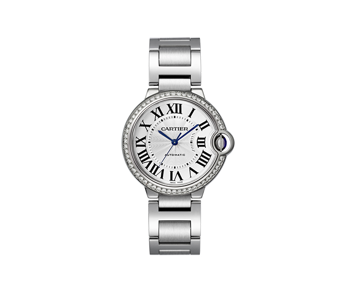 CARTIER - Ballon Bleu de Cartier 36mm Steel and Diamonds