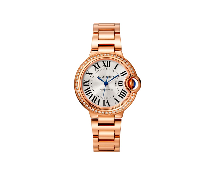 CARTIER - Ballon Bleu de Cartier, 33 mm, Pink gold and diamonds