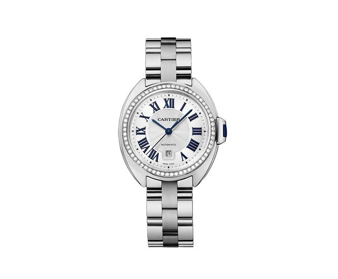 CARTIER - Clé de Cartier 31 mm Automatic, White gold, Diamonds