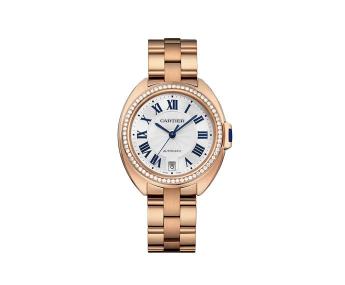 Cartier - Clé de Cartier 35 mm Automatic, Pink gold, Diamonds