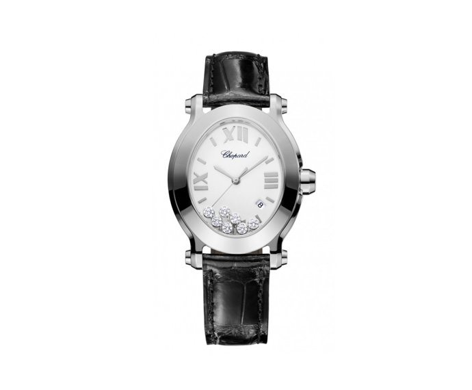 Chopard - Happy Sport Oval, Stainless steel, Diamonds