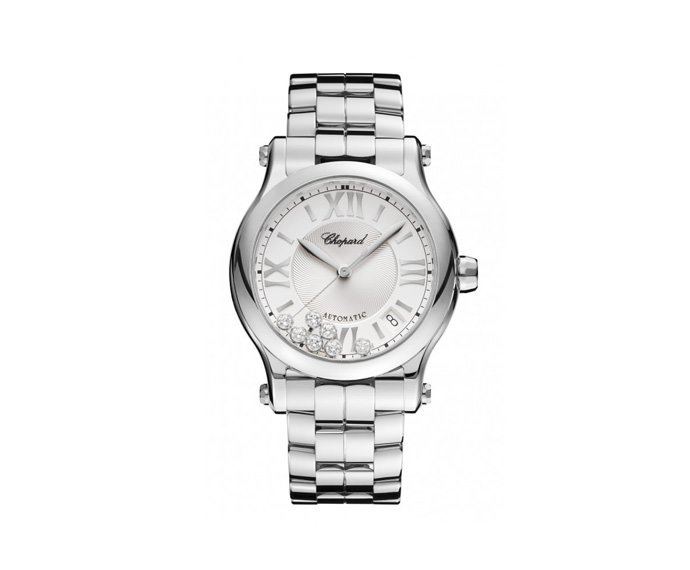 CHOPARD - Happy Sport 36 mm Automatic, Stainless steel, Diamonds
