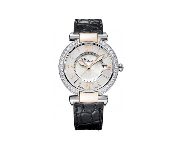 Chopard - Imperiale 36 mm, Pink gold 18 K, Stainless steel, Amethyst, Diamonds