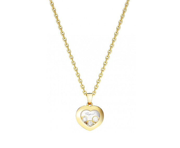 CHOPARD - 18 carat yellow gold and diamonds pendant