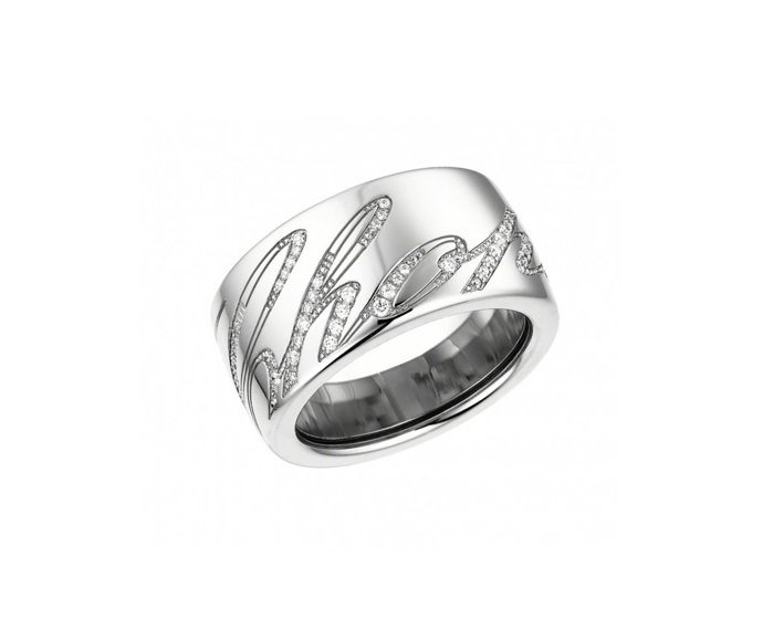 CHOPARD - 18 carat white gold and diamonds ring