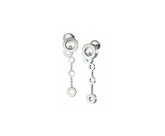 CHOPARD - 18 carat white gold and diamonds earrings