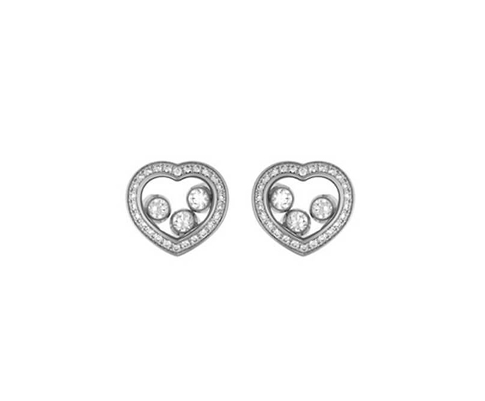CHOPARD - Earrings white gold 18 K and diamonds