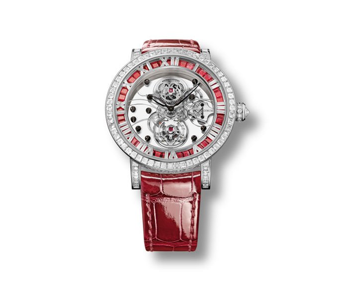 CORUM - Classical Billionaire Tourbillon White Gold, Rubies and Diamonds
