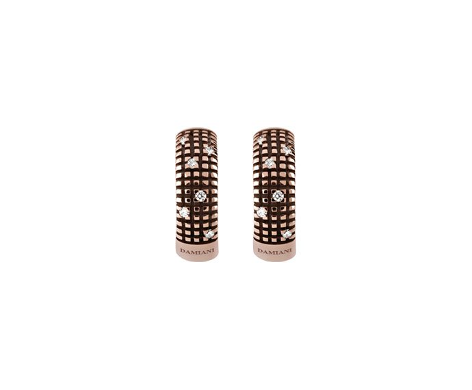 Damiani - Brown gold with diamonds earrings