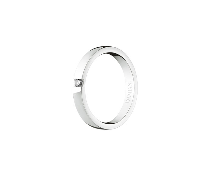 Damiani - White gold wedding ring with diamond