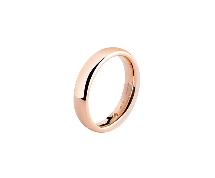 Damiani - Pink gold wedding ring