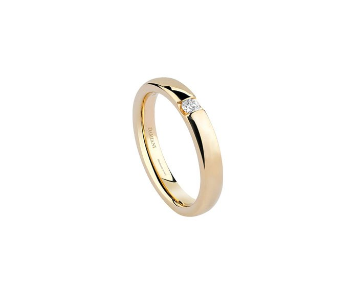 Damiani - Yellow gold wedding ring with diamond