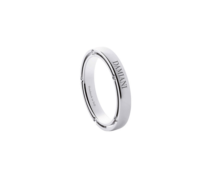 Damiani - White gold with diamonds wedding ring