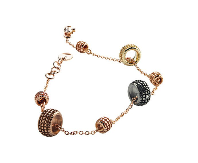 Damiani - Yellow gold, pink gold, brown gold, black gold and diamonds bracelet
