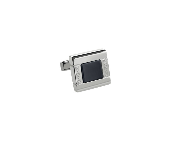 DAMIANI - Silver cufflinks with onyx