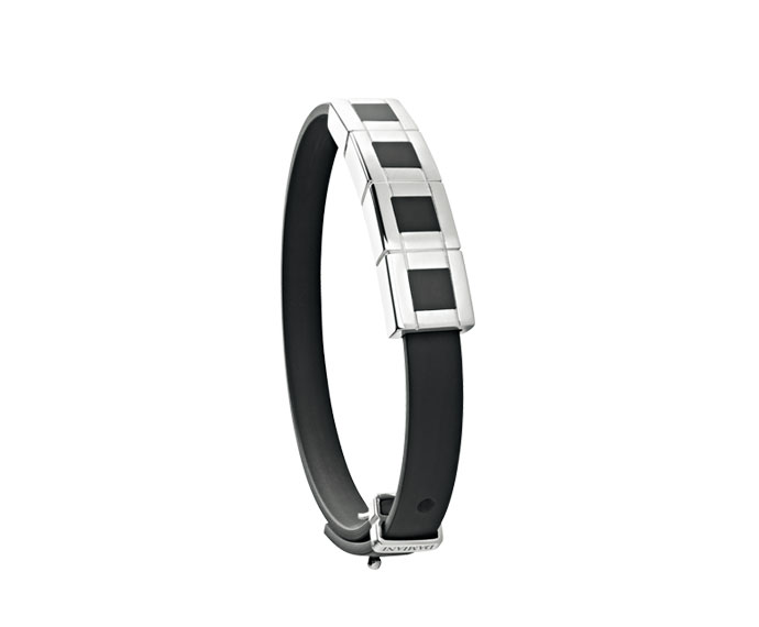 Damiani - Silver, onyx and rubber bracelet