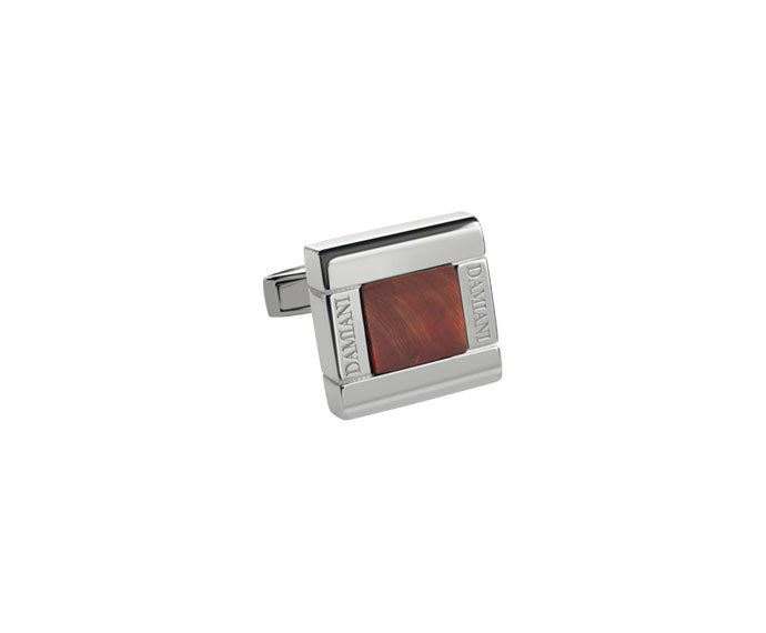 DAMIANI - Silver cufflinks with tiger's eye