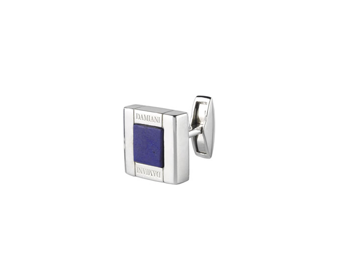 Damiani - Silver cufflinks with lapis