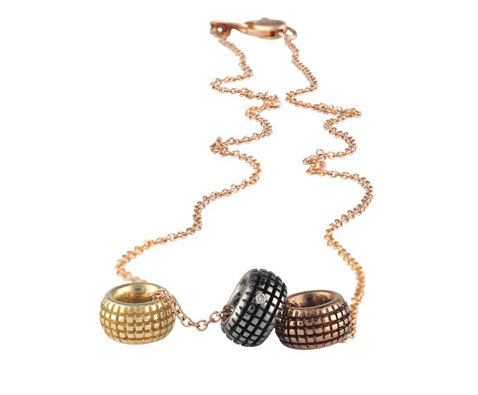 Damiani - Yellow gold, pink gold, brown gold, black gold and diamonds necklace