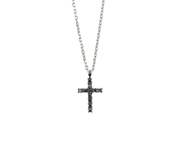 Damiani - White gold and black diamonds necklace